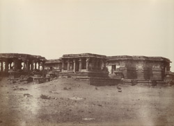 Hullabeed. General view from the north-east. [Hoysaleshwara Temple, Halebid.]